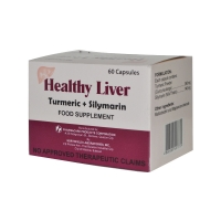 Healthy Liver Turmeric + Silymarine Food Supplement (60 Capsules)